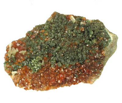 Grossular (Var: Hessonite), Diopside, Clinochlore