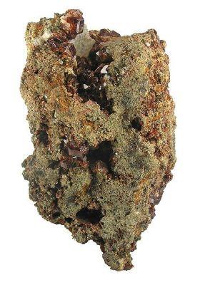 Grossular (Var: Hessonite), Vesuvianite