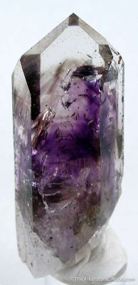 Quartz With Amethyst and Smoky Phantoms