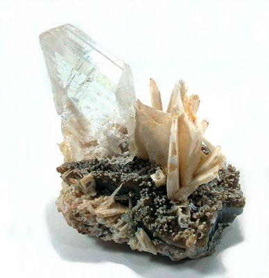 Gypsum (Var: Selenite), Quartz, Anhydrite
