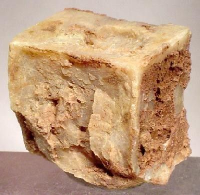 Gypsum (Var: Selenite), Halite