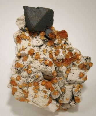 Helvite, Spessartine, Orthoclase