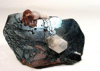 Hematite, Andradite, Calcite