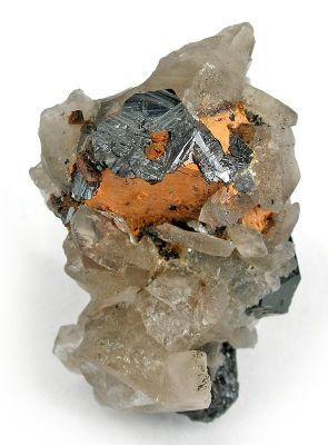 Ilmenite, Cassiterite, Quartz (Var: Smoky Quartz)