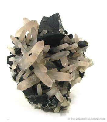 Chalcopyrite Coated With Tetrahedrite on Quartz