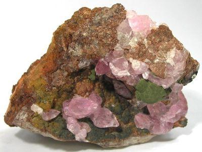 Kolwezite, Calcite (Var: Cobaltoan Calcite)