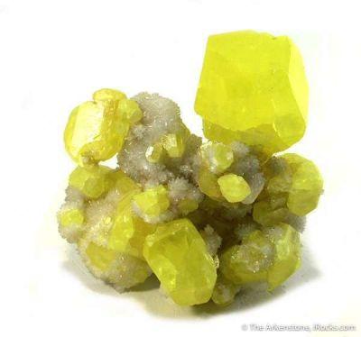 Sulfur on Aragonite