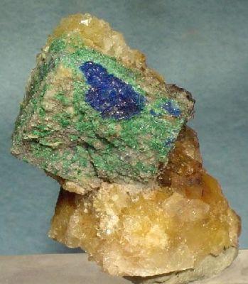 Linarite, Brochantite, Anglesite, Galena