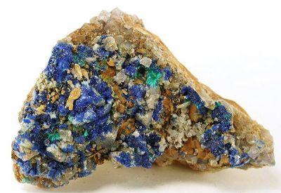 Linarite, Brochantite, Cerussite, Galena