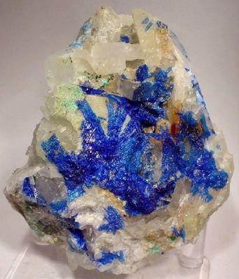 Linarite, Baryte, Fluorite
