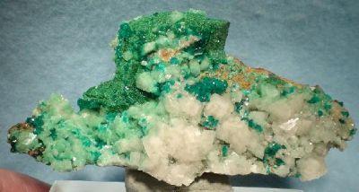 Malachite, Azurite, Dioptase, Calcite