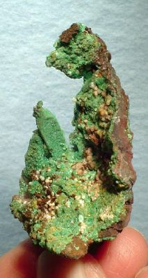 Malachite, Calcite, Copper