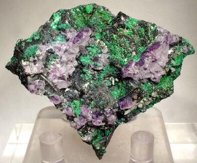 Malachite, Tetrahedrite, Fluorite, Rhodochrosite