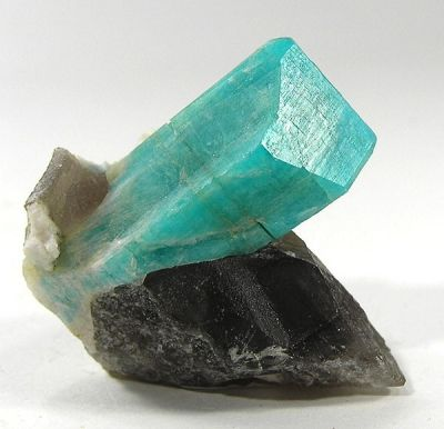 Microcline (Var: Amazonite), Quartz (Var: Smoky Quartz), Albite