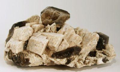 Muscovite, Microcline, Quartz (Var: Smoky Quartz)