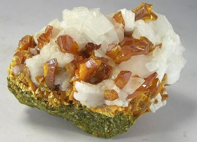 Orpiment, Calcite