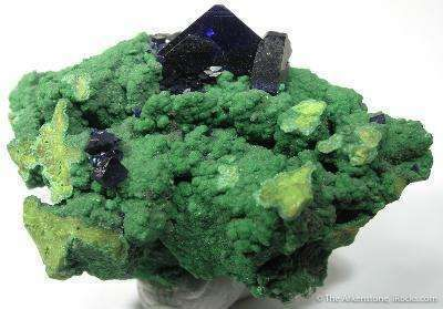 Arsentsumebite With Azurite