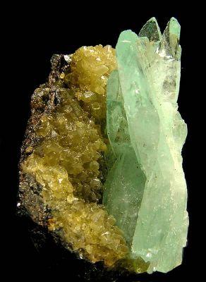 Phosphophyllite, Siderite
