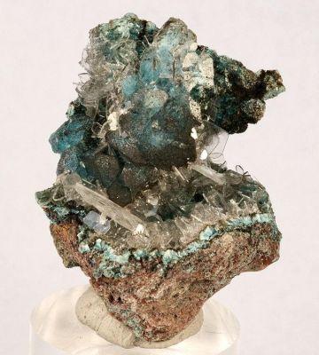 Plancheite, Baryte, Calcite, Quartz