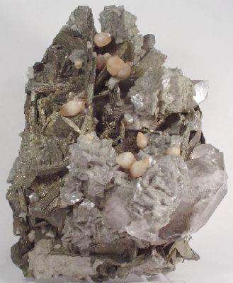 Pyrite, Marcasite, Calcite, Dolomite, Quartz