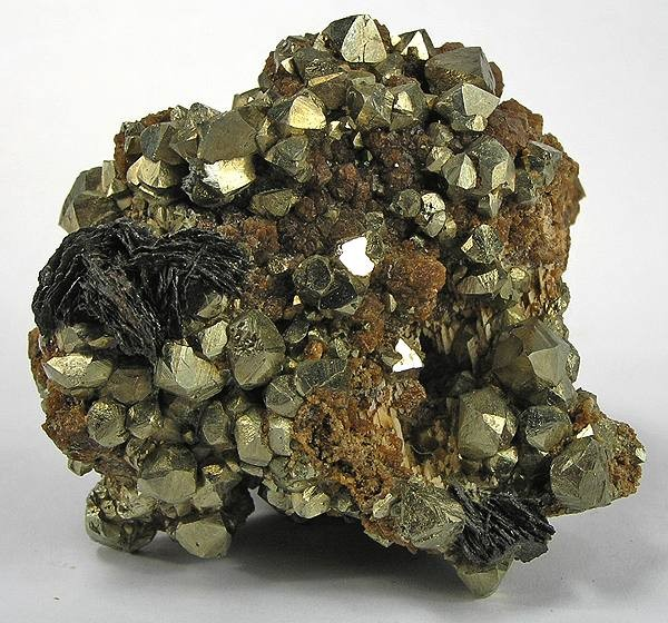 Pyrite, Hematite, Grossular - MD-188149 - Concepcion del Oro