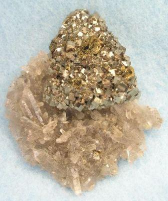 Pyrite, Tetrahedrite, Quartz