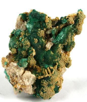Pyromorphite, Malachite, Cerussite