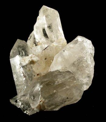 Quartz, Albite (Var: Pericline), Calcite, Rutile
