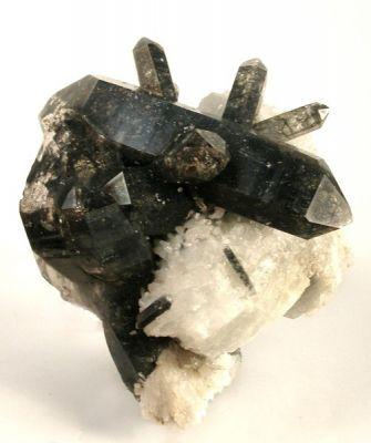 Quartz, Schorl, Albite (Var: Cleavelandite)