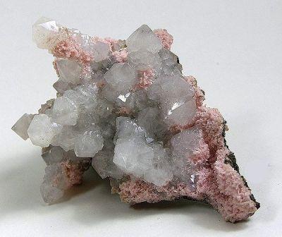 Quartz, Rhodochrosite