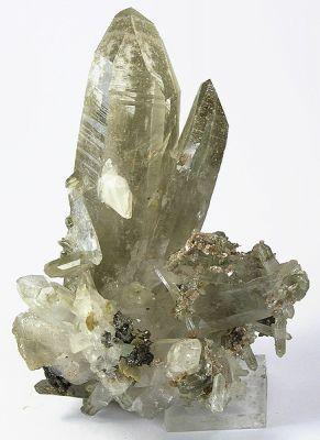 Quartz, Muscovite, Apatite-(Caf), Siderite