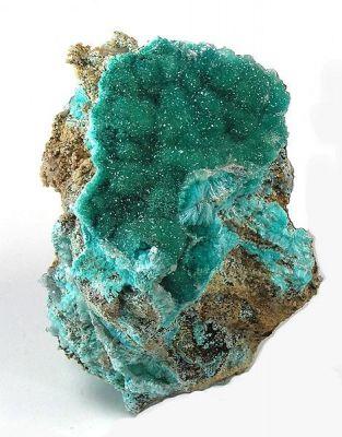 Quartz, Aurichalcite