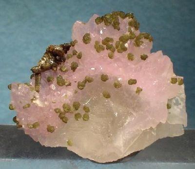 Quartz (Var: Rose Quartz), Eosphorite, Zanazziite