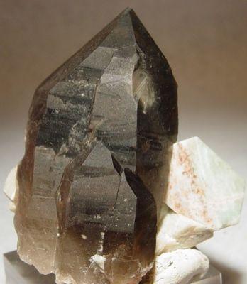 Quartz (Var: Smoky Quartz), Microcline (Var: Amazonite)