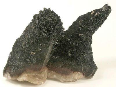 Quartz (Var: Smoky Quartz), Goethite, Onegite