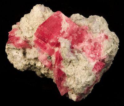 Rhodochrosite, Fluorite, Quartz