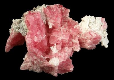 Rhodochrosite, Quartz, Fluorite, Pyrite