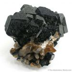 Schorl on Smoky Quartz