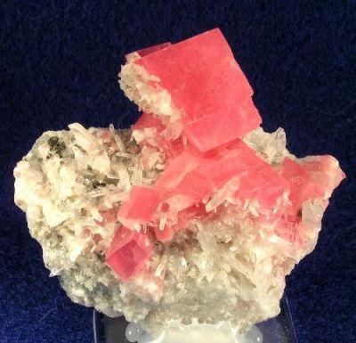 Rhodochrosite, Quartz, Tetrahedrite