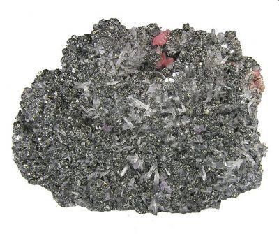 Rhodochrosite, Tetrahedrite, Quartz, Pyrite