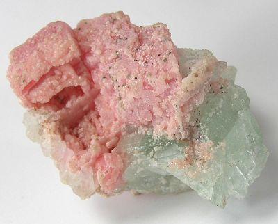 Rhodochrosite, Fluorite