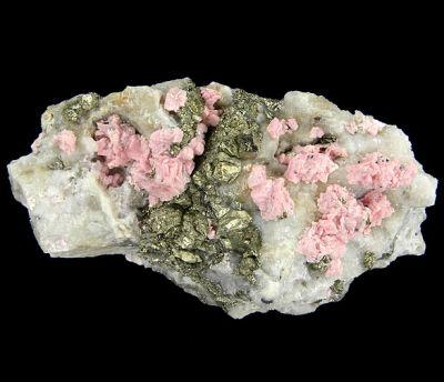 Rhodochrosite, Quartz, Pyrite