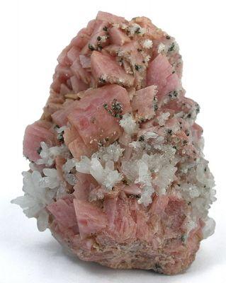 Rhodochrosite, Quartz