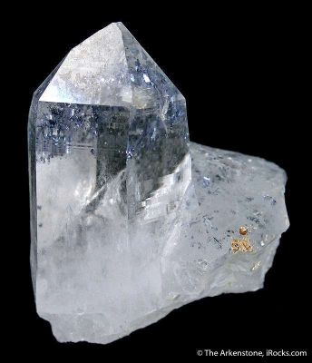 Quartz With Molybenite Inclusions