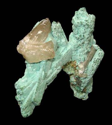 Rosasite, Malachite, Azurite, Cerussite
