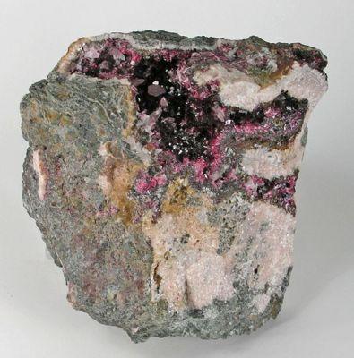 Roselite, Calcite (Var: Cobaltoan Calcite)