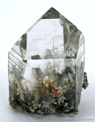 Quartz With Arsenopyrite Inclusions