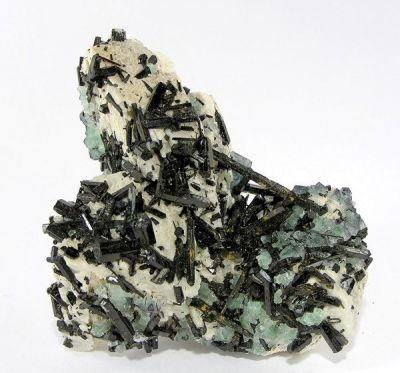 Schorl, Fluorite, Feldspar Group