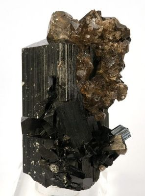 Schorl, Quartz (Var: Smoky Quartz)