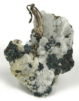 Silver, Bornite, Calcite